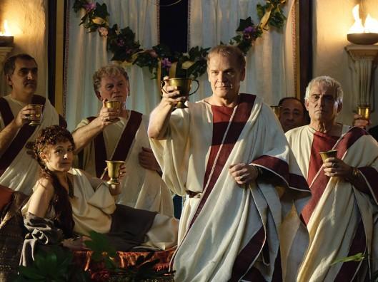 Galba celebra su regreso a Roma