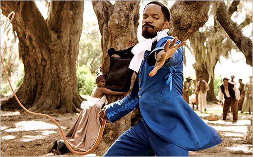 Django Unchained blue outfit