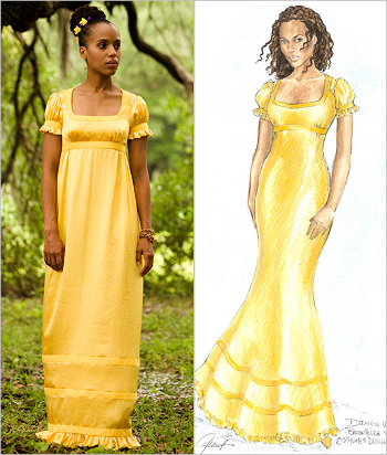 Kerry-Washington yellow dress
