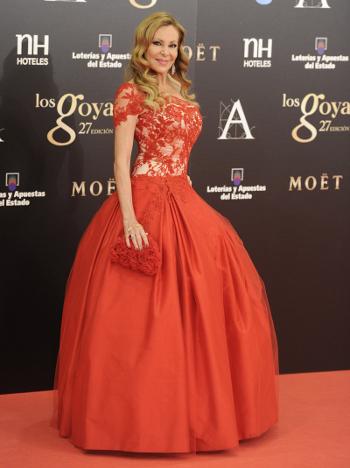 Ana Obregón goya 2013, alfombra roja