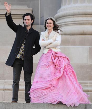 Blair Waldorf Oscar de la renta dress