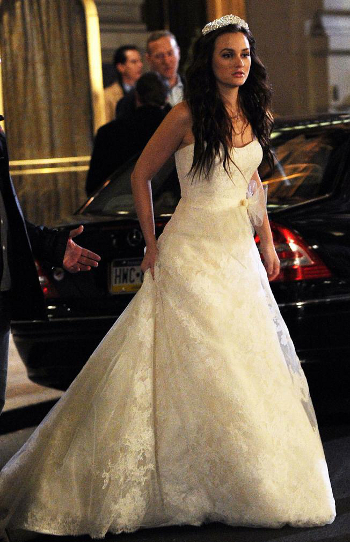 Blair Waldorf Vera Wang wedding