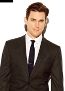 Caffrey Collection Matt Bomer grey suit