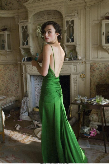 Keira Knightley Atonement green dress