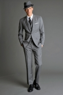 Mad Men Banana Republic 2011 traje gris
