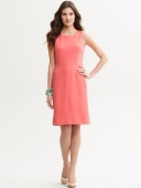 Mad Men Banana Republic vestido coral