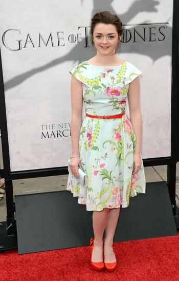 Maisie Williams Premiere Juego de Tronos