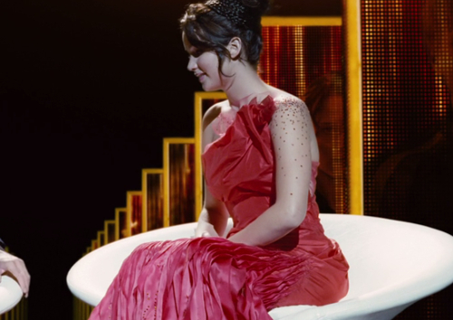 The Hunger Games Katniss red dress