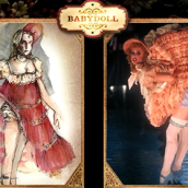 Babydoll vestuario Moulin Rouge