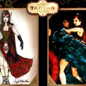 Tartan Moulin Rouge bailarina