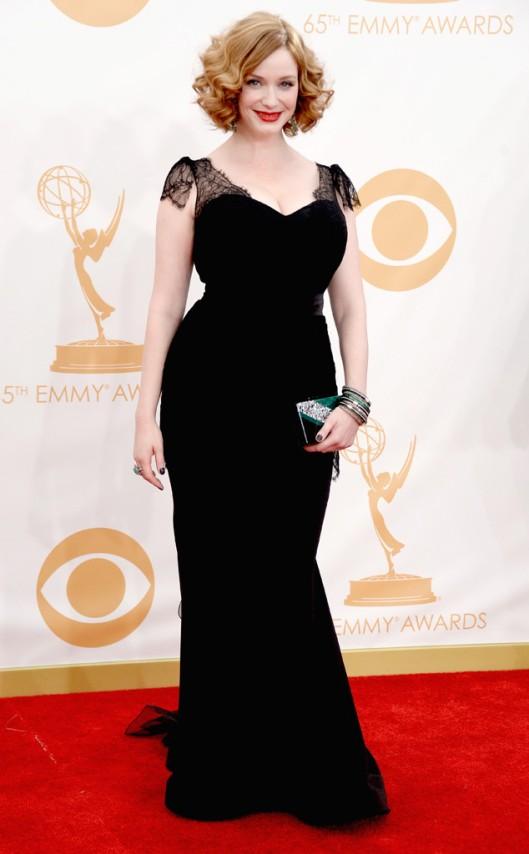 Christina Hendricks CHristian Siriano Emmys 2013
