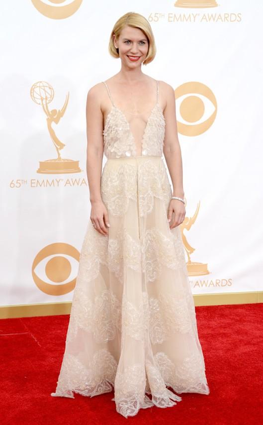 Claire Danes Armani Emmys 2013