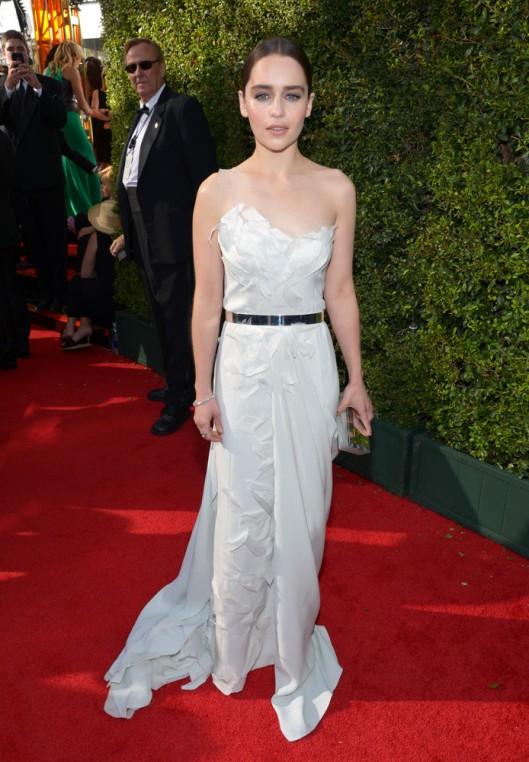 Emilia Clarke Donna Karan Atelier Emmys 2013