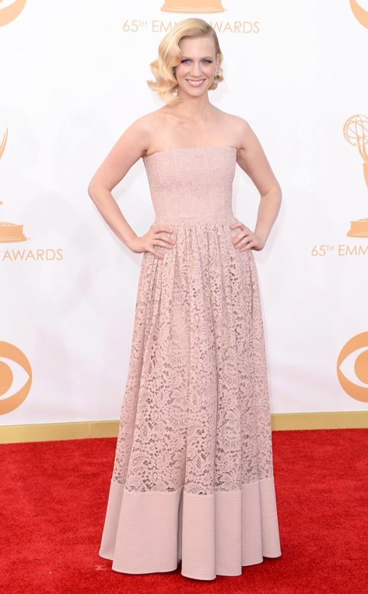 January Jones Givenchy Emmys 2013