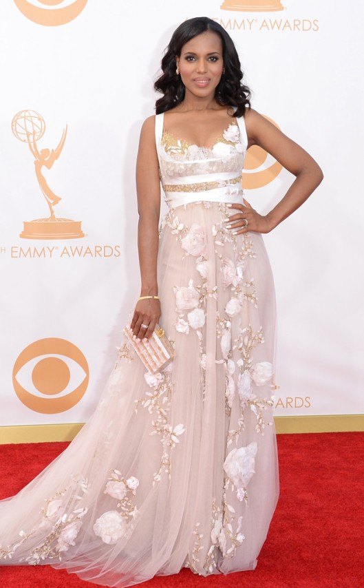 Kerry Washington Marchesa Emmys 2013