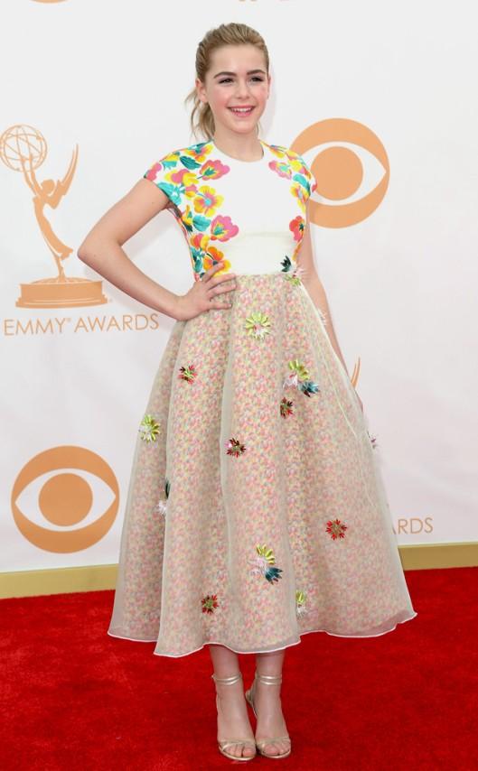 Kiernan Shipka DelPozo Emmys 2013