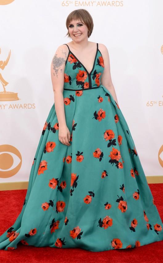 Lena Dunham Prada Emmys 2013