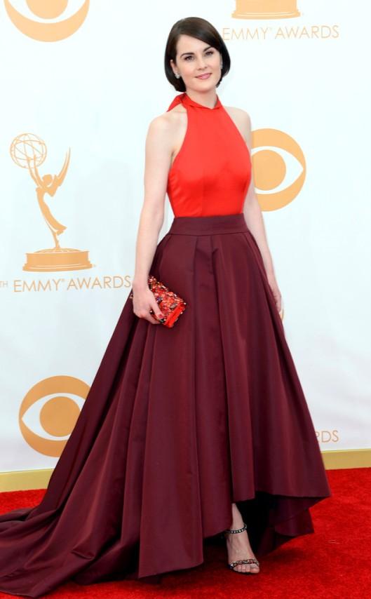Michelle Dockery Prada Emmys 2013