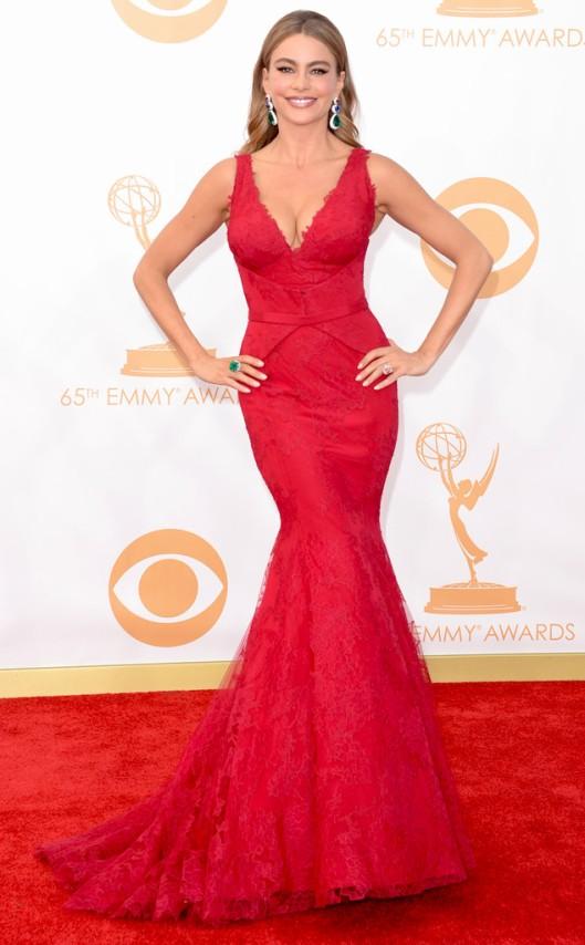 Sofia Vergara Vera Wang Emmys 2013