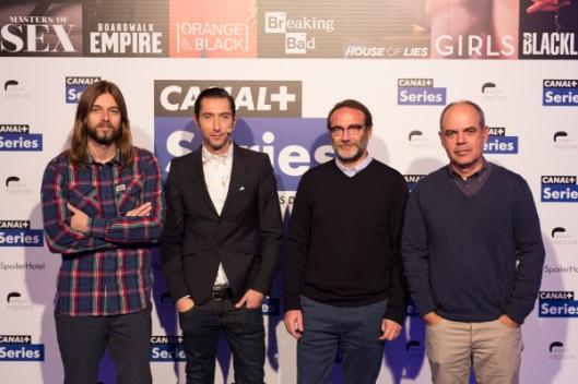 Iñaki Martikorena (director creativo de CANAL+), Toni Garrido, Alex Martínez Roig (director general de contenidos de CANAL+) y Miguel Salvat (director de CANAL+)