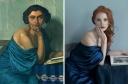 """""""Le Retour de la Mer"""" (1924) el retrato de Felix Valloton aparece representado con gran modernida. Con la cara lavada, destacando su melena pelirroja y con un Alexander Wang, Jessica está espléndida"""