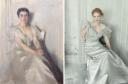 Anders Zorn retrató en 1899 a su mujer, Frances Folsom Cleveland como una reina helada y etérea.Para recrearla, Jessica se viste de Oscar de la Renta color marfil que casa perfectamente con su piel.