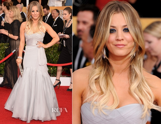 Kaley-Cuoco-In-Vera-Wang-2014-SAG-Awards