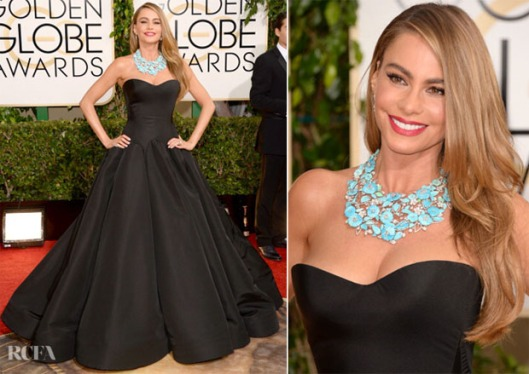 Sofia-Vergara-In-Zac-Posen-2014-Golden-Globe-Awards